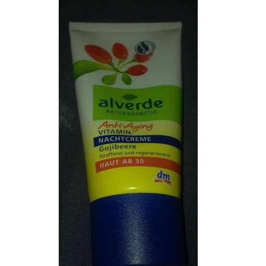 alverde Anti-Aging Vitamin-Nachtcreme Gojibeere (Haut ab 30)
