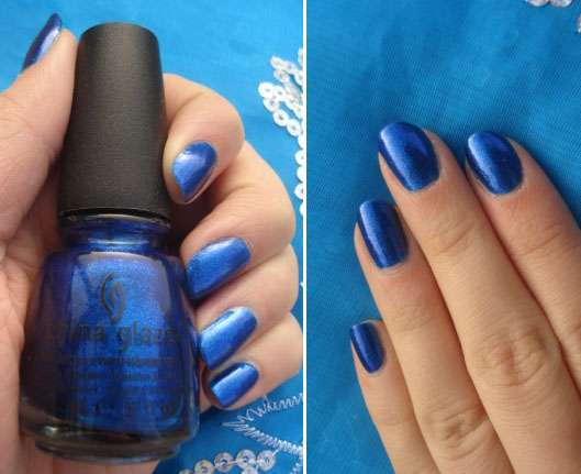China Glaze Nail Lacquer, Farbe: Blue Year's Eve (Let it Snow Collection)