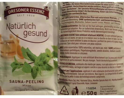 Dresdner Essenz Natürlich gesund Sauna-Peeling Minze