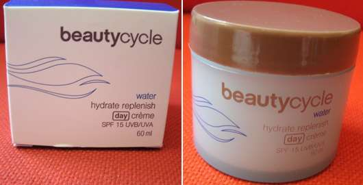 beautycycle water hydrate replenish day crème