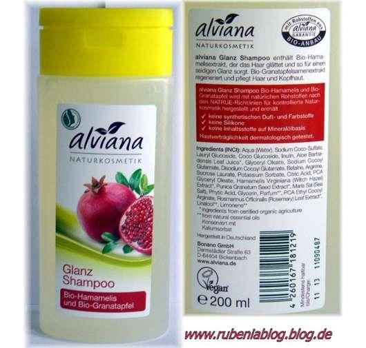 alviana Glanz Shampoo Bio-Hamamelis und Bio-Granatapfel
