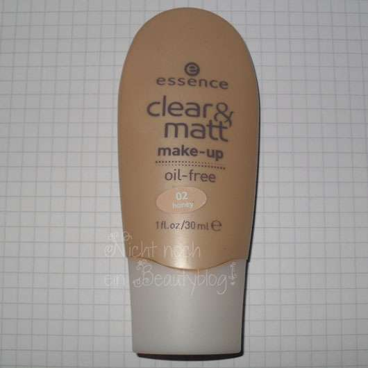 essence clear & matt make-up, Nuance: 02 honey