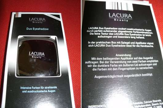 Lacura Beauty Duo Eyeshadow, Farbe: Cappuccino