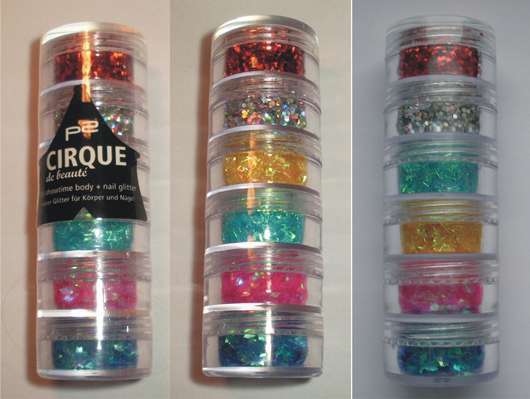 p2 cirque de beauté it's showtime! body + nail art glitter (LE)