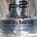 p2 Hypoallergen + Quick Dry Base Coat