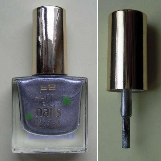 p2 happy new nails lucky charm nail polish, Farbe: 020 jolly silver (LE)