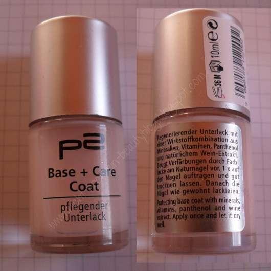 p2 cosmetics Base + Care Coat (pflegender Unterlack)