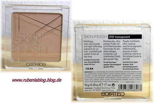 Catrice Skin Finish Puder, Nuance: 010 transparent