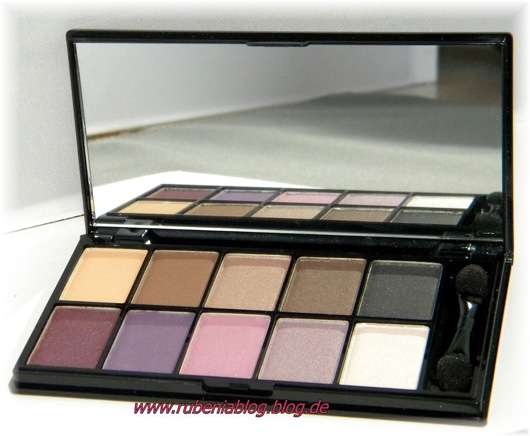 NYX 10 Color Eyeshadow Palette The Runway Collection, Farbe: Versus