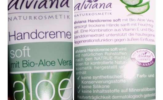 alviana Handcreme Soft mit Bio Aloe-Vera