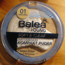 Balea Young Soft & Clear Mattierendes Kompakt Puder, Farbe: 01 Natural