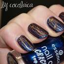 essence nail art crackling top coat, Farbe: 03 crack me! blue