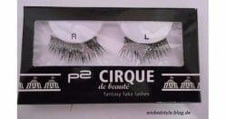 Produktbild zu p2 cosmetics cirque de beauté fantasy fake lashes – 020 drama (LE)