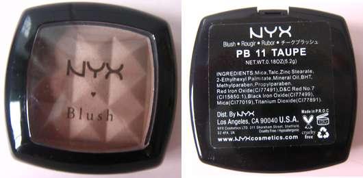 NYX Blush, Farbe: PB11 Taupe