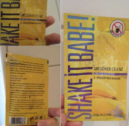 Dresdner Essenz Shake It Babe 2-Phasen Bad Banane (LE)