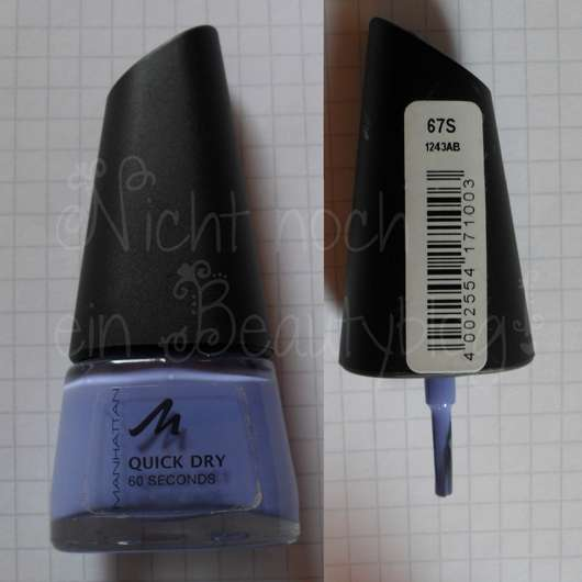 Manhattan Quick Dry 60 Seconds Nail Polish, Farbe: 67S