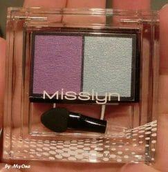 Produktbild zu Misslyn High Shine Duo Eyeshadow – Farbe: 124 Crazy Butterfly