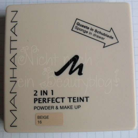 Manhattan 2in1 Perfect Teint Powder & Make Up, Farbe: 16 Beige