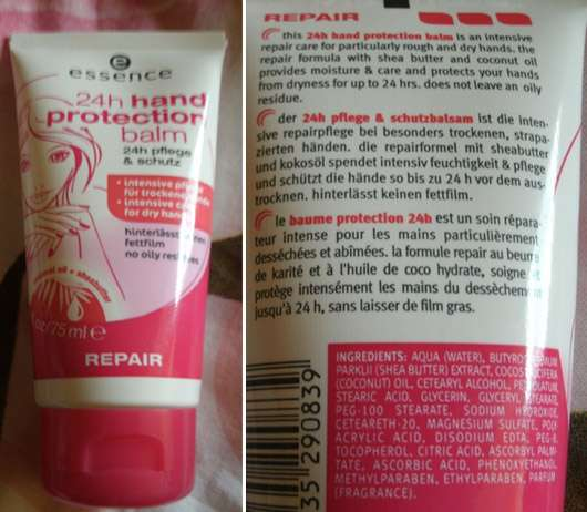 "essence 24h hand protection balm ""repair"""