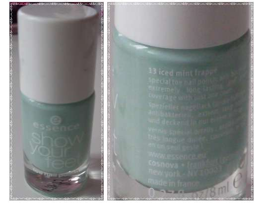 essence show your feet toe nail polish, Farbe: 13 iced mint frappé