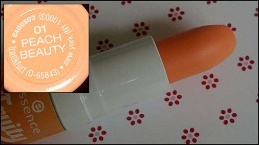essence fruity lip balm, Farbe: 01 peach beauty (LE)