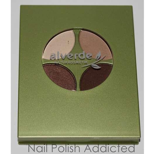 alverde Quattro Lidschatten, Farbe: 37 Chocolate