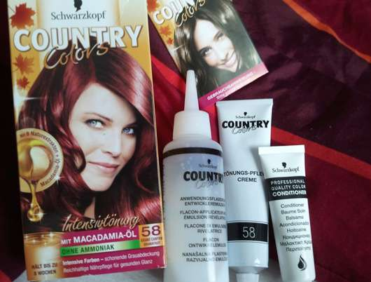 Schwarzkopf Country Colors Intensivtönung, Farbe: 58 Granatrot