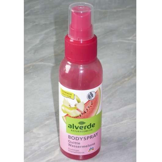 alverde Bodyspray Quitte Wassermelone (Sommer LE)