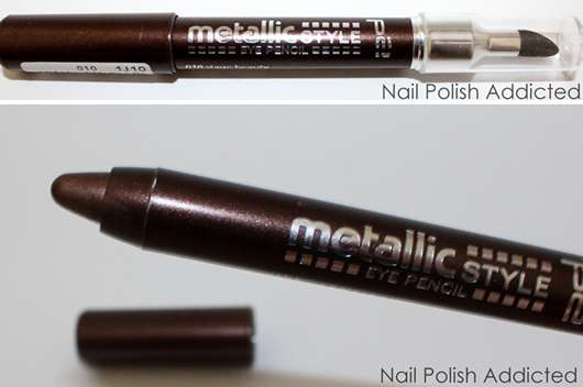 p2 metallic style eye pencil, Farbe: 010 stage beauty
