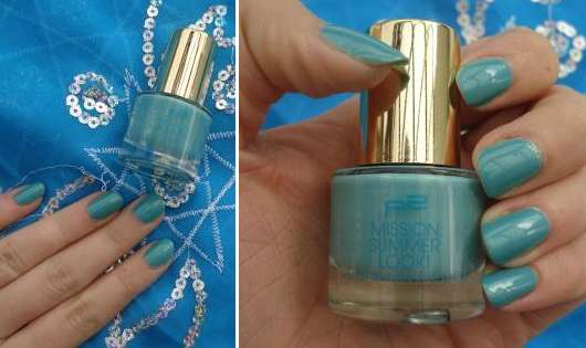 p2 mission summer look! metal & shine nail polish, Farbe: 030 blue hawaii (LE)