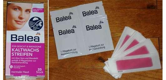 Balea Kaltwachsstreifen für Gesicht & Bikinizone
