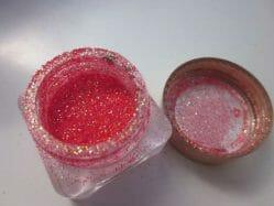 Produktbild zu Jolifin Glitterpuder – Farbe: Rot