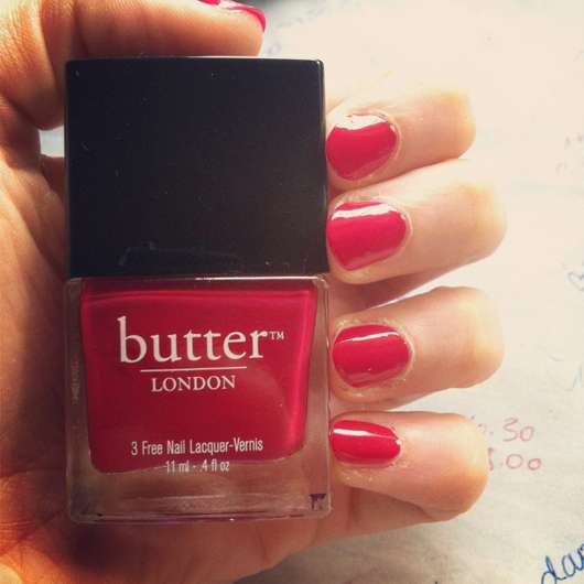 butter London 3 Free Nail Lacquer-Vernis, Farbe: Blowing Raspberries