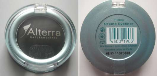Alterra Creme Eyeliner, Farbe: 01 Black