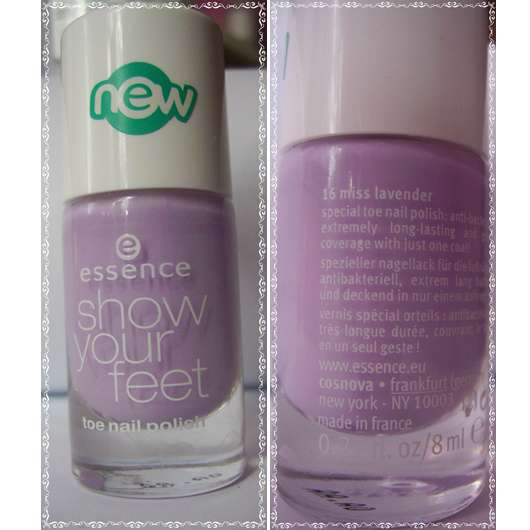 essence show your feet toe nail polish, Farbe: 16 miss lavender