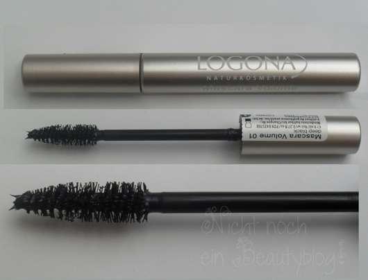 LOGONA Naturkosmetik Mascara Volume, Farbe: 01 deep black