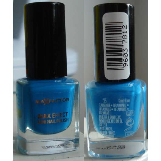 Max Factor Mini Nail Polish, Farbe: 35 candy blue