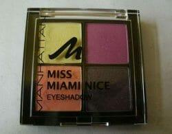 Produktbild zu MANHATTAN Miss Miami Nice Eyeshadow Quattro – Farbe: 2 Fruit Sorbet (LE)