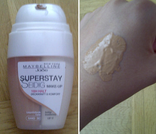 Maybelline Jade Superstay Seidig Make-up 16h Halt, Nuance 30 Sand
