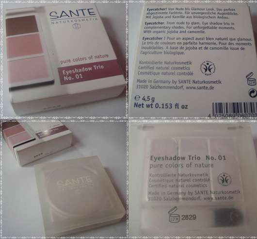 SANTE Eyeshadow Trio, Farbe: 01 Rose