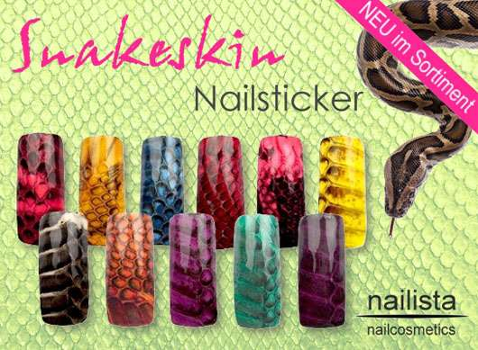 Schlangenhaut Nailart Sticker