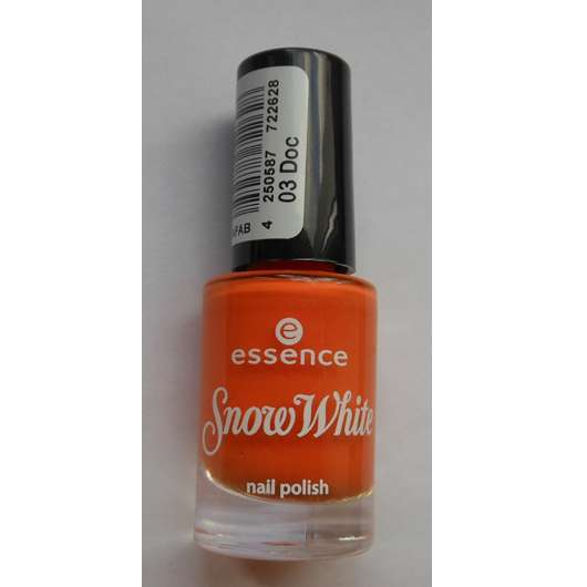 essence snow white nail polish, Farbe: 03 doc (LE)