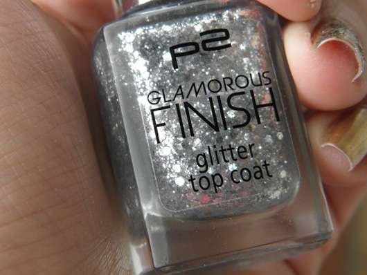 p2 glamorous finish glitter top coat, Farbe: 030 let's dance!