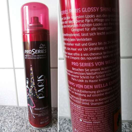 Wella Pro Series Paris Glossy Shine Haarspray (LE)