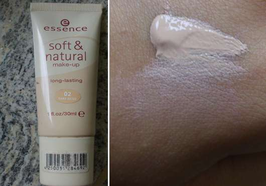 essence soft & natural make-up long-lasting, Nuance: 02 sand beige