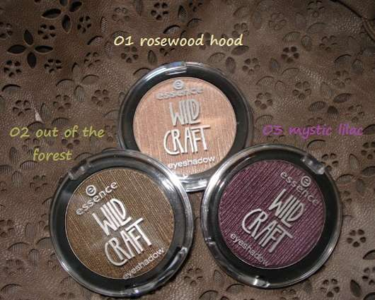 essence wild craft eyeshadows (LE)