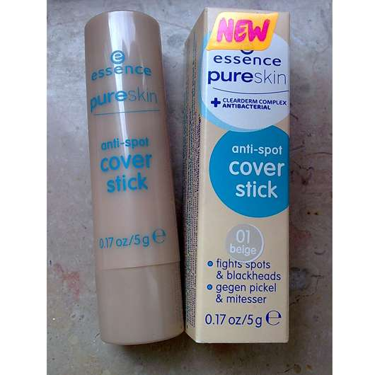 <strong>essence pure skin</strong> anti-spot cover stick - Farbe: 01 beige