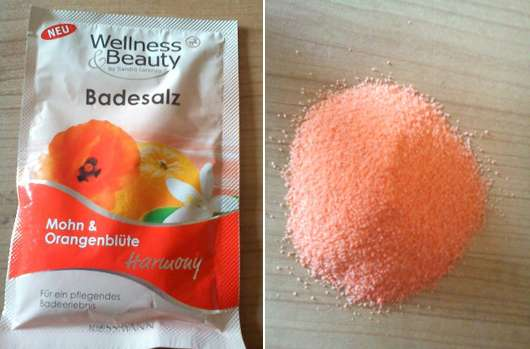 Wellness & Beauty Badesalz Mohn & Orangeblüte