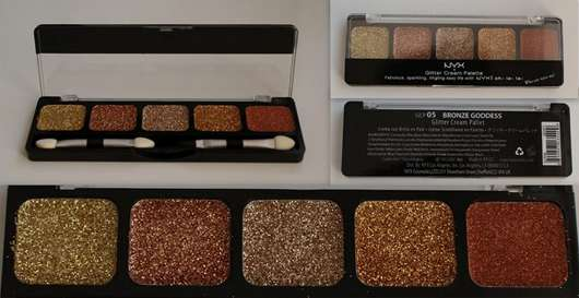 NYX Glitter Cream Palette, Farbe: Bronze Goddess