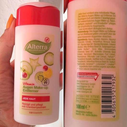 Alterra Vitamin Augen Make-up Entferner für jede Haut